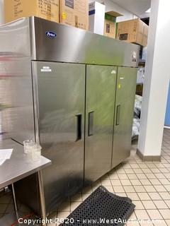 Atosa 3-Door Reach-In Vertical Refrigerator