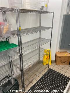 """NSF Stainless Rack 4' x 18"""" x 74"""" (Contents NOT Included)"""