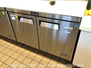 Atosa (2) Solid Door Undercounter Refrigerator