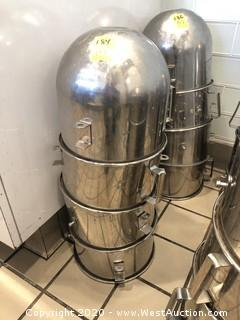 (4) Globe Commercial Stainless Mixing Bowls
