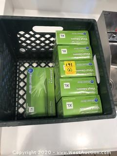 (6) Boxes of XL Powder Free Soft Vinyl Gloves