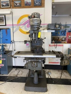 Bridgeport Textron Drill with Acu-Rite Digital Position Readout