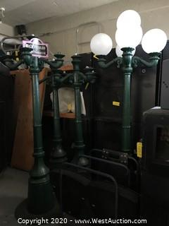 (4) 9' Vintage Styled Street Lamps