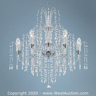 Hanging Crystal Chandelier with Power Cord and Chain