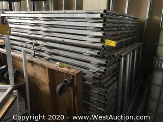 Lot of (30) 8'x5' Aluminum Stage Frames