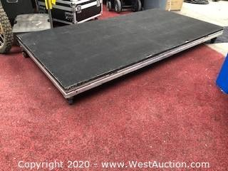 (2) Accurate Aluminum 4 ft x 8 ft Stage Decks