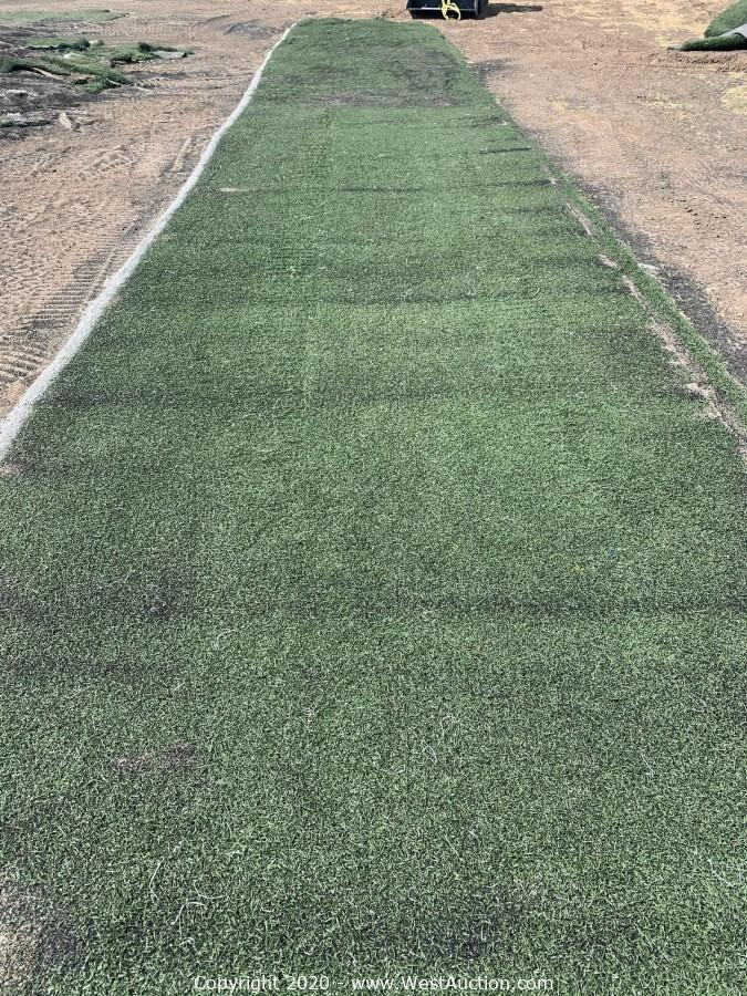 Online Auction of (50) Strips of Commercial Grade Artificial Grass Turf & (50) Bags of Rubber Crumb