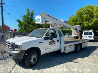 2004 Ford F-450 XL Super Duty Utility Flatbed Boom Truck