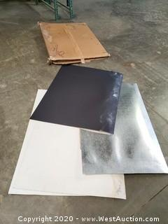 Assorted White/Black/Silver Cardboard Light Diffusers