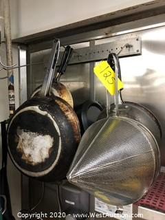 Pan Drying Rack and (7) Cook Pans