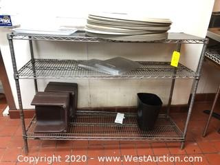 5' Wide Metro Rack with Contents