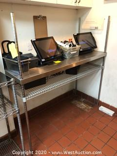 (1) 5' Adjustable Stainless Steel Rack with Shelving (Rack ONLY)