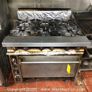 Jade 6-Burner Gas Range Stove/Oven