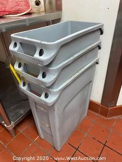 (3) Rubbermaid Trash Bins