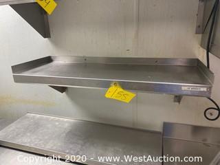 """Stainless Steel Shelf 34""""x12"""""""