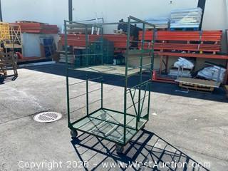 Two Level Push Shop Cart