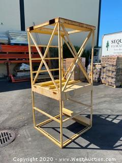 Raised Forklift Safety Man Cage