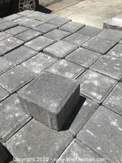 (1) Pallet of Ackerstone Charcoal Face Mix 4'' X 4'' X 60mm Thick Paver