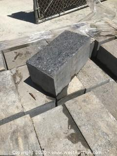 (1) Pallet of Black Granite Paver Flamed Top Finish and Sawn Balance