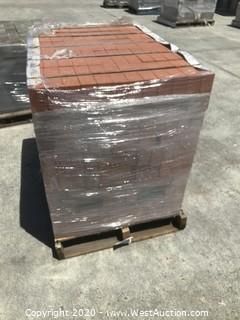 (1) Pallet of McNear Clay Brick. Solid Roughly 4'' x 8'' x 2.5'' Thick Wire Cut