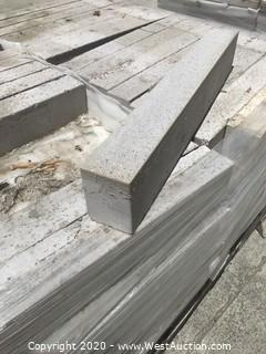 (1) Pallet of Stepstone 3'' x 24'' x 4'' Thick Gray Sandblast Paver