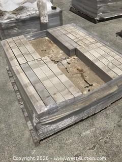 (1) Pallet of Stepstone 3'' x 24'' x 4'' Thick Tan Sandblast Paver
