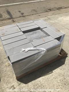 (1) Pallet of Stepstone Gray Sandblast Paver 6'' X 18'' X 2.5'' Thick