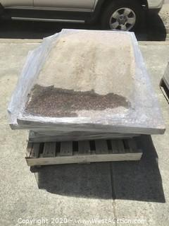 (1) Pallet of Granite Slabs; Various Sizes All 2'' Thick