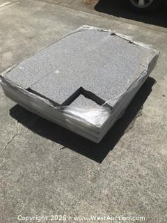 (1) Pallet of Dark Granite Treads/Pavers 12'' X 48'' X 2'' Thick