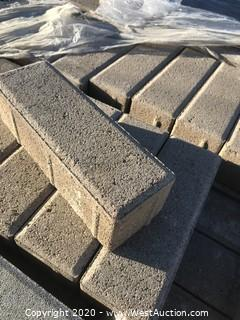 (1) Pallet of Ackerstone Paver 3'' X 9'' X 70mm Thick Brown Paver