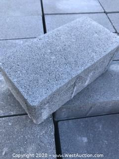 (1) Pallet of Holland Paver Gray Face Mix 4'' X 8'' X 80mm Thick