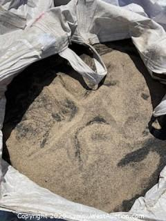 (1) Bag of Rubber Crumb and Sand Mixture