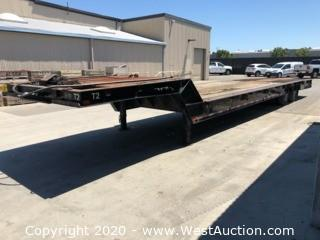 1983 Trail King 51ft Flatbed Trailer 1945-1350