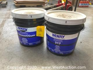 (2) 4 Gallon Henry Multipurpose Construction Adhesive