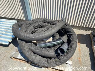 Pallet of Plastic Tubing With Mesh Covering