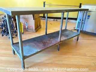 Stainless Steel 6' Two-Tier Table