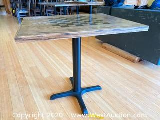 Wooden Cafe Table - 31in x 25in x 29in
