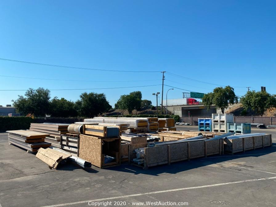 Online Auction of American Building MFG Materials in Merced, California