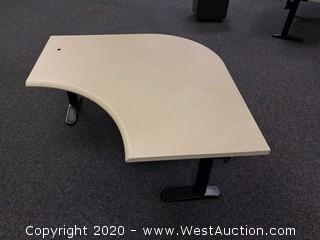 (1) Adjustable Height Sit Stand Corner Desk
