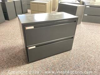 Metal 2 Drawer Lateral File Cabinet
