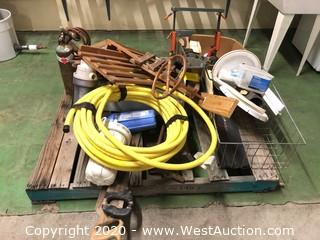 Bulk Lot: Pallet of Manual Saws, Various Wood Shaping Tools, Wood Planers, Craftsman Miter Box, & More