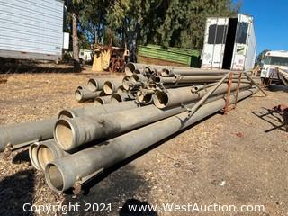 (34) Aluminum Irrigation Pipe