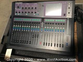 Allen & Heath GLD-80 Digital Audio Mixer in Rolling Road Case