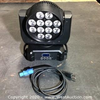 6in1 LED Moving Head Wash DMX Intelligent Light. 14 Channels (RGB,W,A,UV)