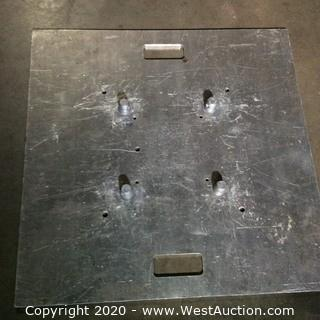 "Global Truss Base Plate 30X30A 30"" x 30"" Aluminum Base Plate for F24/F32/F33/F34/F44P"