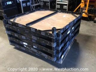 (8) Biljax ST8100 4'x4' Portable Stage Deck