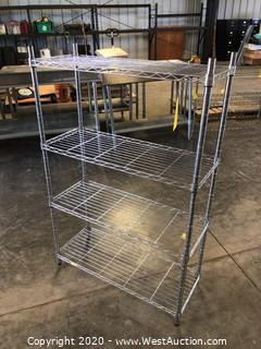 "Metro Rack with 4 Shelves 36""x14""x55"""