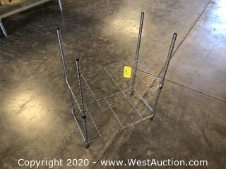 """Wire Shelf Rack with 2 Shelves 24""""x13""""x32"""""""