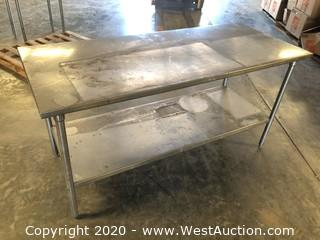 6' Stainless Prep Table with Undershelf