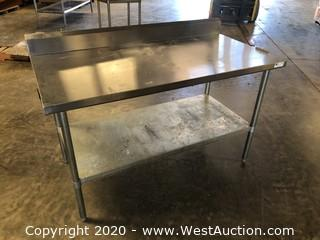 John Boos 5' Stainless Prep Table